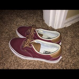 Burgundy VANS ☮️ Check out my posh for more deals!